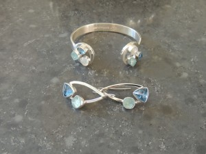 Topaz and Tanzanite in sterling silver
